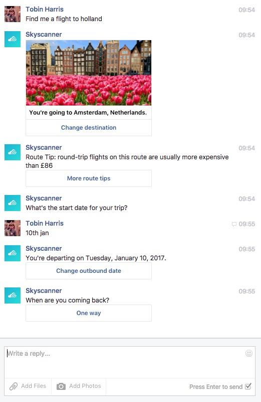 Developing a Facebook Messanger Chatbot